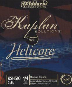 D'Addario Helicore/Kaplan Combination 4/4 Size Cello String Set